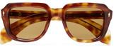 Hopper + Jacques Marie Mage Taos Square-Frame Tortoiseshell Acetate Sunglasses