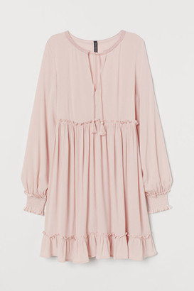 H&M Tie-detail Dress - Pink