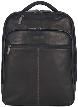 """Kenneth Cole Reaction Colombian Leather Single Compartment 15.0"""" Computer Travel Backpack"""