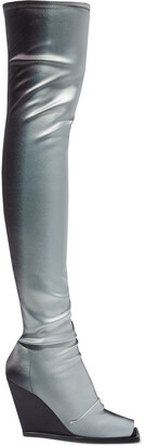 Rick Owens Degrade Stretch-scuba Wedge Over-the-knee Boots