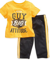 First Impressions Baby Set, Baby Boys Big Attitude Tee and Pant Set