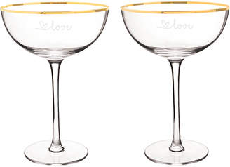 Cathy's Concepts Cathys Concepts Gold Love Coupe Flutes & Cake Serving Set