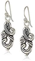 "Barse Silhouette"" Sterling Ornate Drop Earrings"