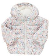 F&F Fleece Lined Floral Print Shower Resistant Quilted Jacket, Newborn Girl's