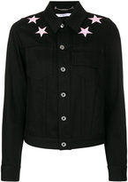 Givenchy star patch denim jacket - women - Cotton - 36