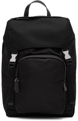 Prada Black Twill Montagna Backpack