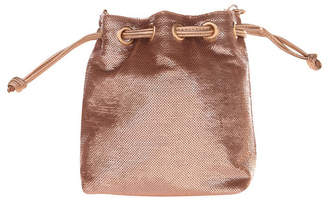 La Regale Fully Sequin Bucket Cross Body with Faux Leather Drawstring