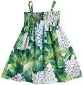 Dolce & Gabbana Hydrangea Printed Cotton Poplin Dress