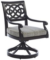 Tommy Bahama Royal Kahala Sands Swivel Patio Dining Chair with Cushion Outdoor