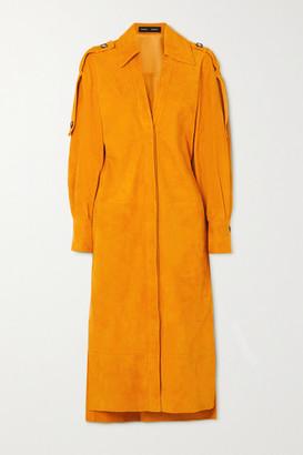 Proenza Schouler Suede Shirt Dress - Yellow