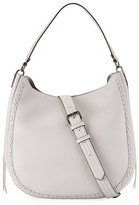 Rebecca Minkoff Convertible Pebbled Hobo Bag, Light Gray