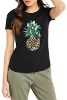 Oasis Embellished Pineapple T-Shirt, Black