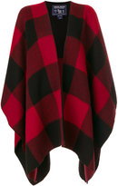 Woolrich check cape