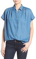 Madewell Women's Boxy Short Sleeve Chambray Top