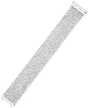 Italian Gold Sparkle Statement Bracelet in 14k White Gold-Plated Sterling Silver