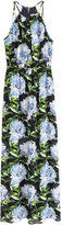 H&M Long Dress - Black floral - Ladies