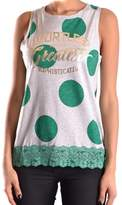 Liu Jo Women's Grey/green Cotton Tank Top.