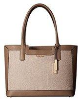 Calvin Klein Key Items Saffiano/Fur Tote