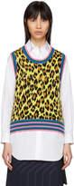 Comme des Garcons Yellow Leopard Panel Vest