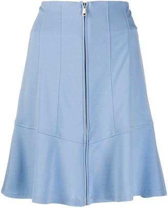 Pinko High Waisted Zipped Skirt