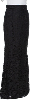 Dolce & Gabbana Black Lace Fit & Flare Maxi Skirt S