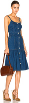 Suno Spaghetti Strap Long Denim Dress