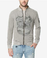 Buffalo David Bitton Men's Fasan Deconstructed Zip-Front Sweatshirt