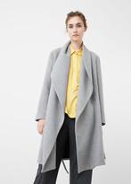 MANGO Wide Lapel Wool-Blend Coat