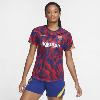 Nike Women's Pre-Match Short-Sleeve Soccer Top FC Barcelona