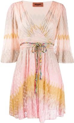 Missoni Waist-Tied Mini Dress