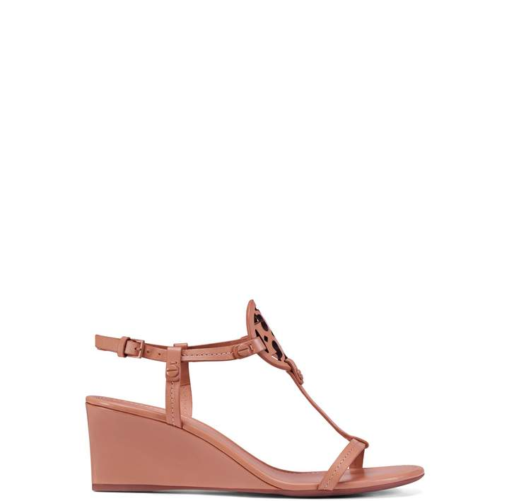 Tory Burch MILLER WEDGE SANDAL, LEATHER