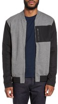 BOSS Men's Skiles 06 Mixed Media Bomber Jacket