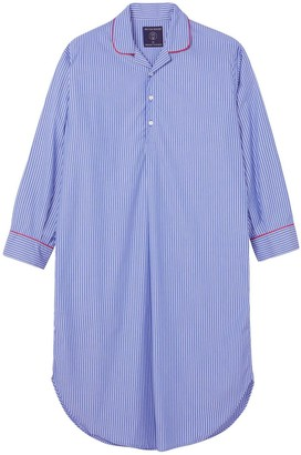 British Boxers Men's Burford Stripe Crisp Cotton Nightshirt