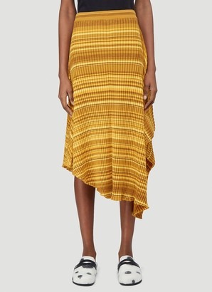 J.W.Anderson Striped Ribbed Infinity Skirt