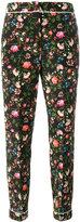 Erdem floral printed trousers - women - Silk - 8