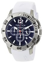 Nautica Men's N16568G BFD 101 White Resin and Blue Dial Watch