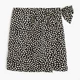 J.Crew Petite Metallic pebble print jacquard skirt