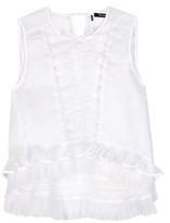 Isabel Marant Vienna Pleated Silk-blend Top