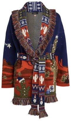 Alanui West Christmas Eve Landscape Cardigan