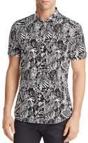 HUGO Empson Patterned Regular Fit Button-Down Shirt