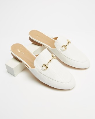Spurr Women's White Brogues & Loafers - Sim Mules - Size 10 at The Iconic