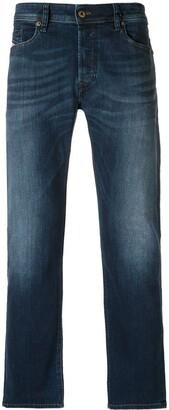 Diesel Stonewashed Straight-Leg Jeans