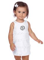 Princess Linens White Monogram Sleeveless Dress - Infant Toddler & Girls