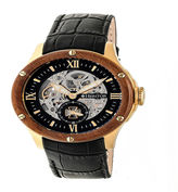 Heritor Mens Black Strap Watch-Herhr3904