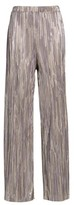 Leith Women's Metallic Pleat Pants