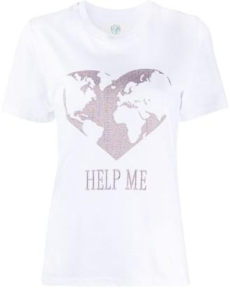 Alberta Ferretti slogan heart print T-shirt