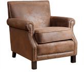 Abbyson Living Chloe Leather Club Chair, Antique Brown