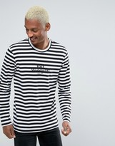Huf Long Sleeve T-shirt With Block Stripe