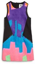 Milly Girl's Neon Puzzle Jacquard Dress
