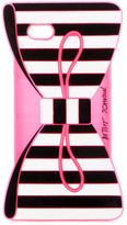 Betsey Johnson Striped Bow iPhone Case